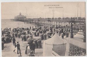 1907 Scheveningen Hague Postcard STRAND En WANDELHOOFD Pier Beach NETHERLANDS