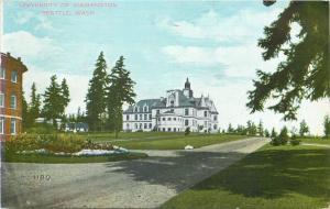 Seattle~University of Washington~1909 Expo Grounds~1907 Postcard