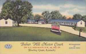 Kentucky Bowling Green Baker Hill Motor Court Court Curteich
