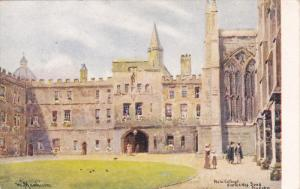 OXFORD, Oxfordshire, England, PU-1945; New College, Entrance Quad