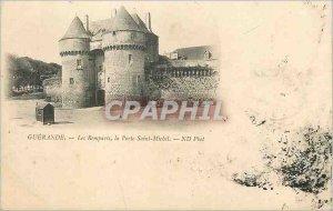Postcard Old ramparts Guerande door Saint Michel d phot