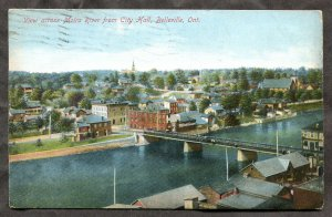 430 - BELLEVILLE Ontario 1909 Town View Moira River. By Stedman