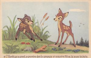 DISNEY : Bambi Plays With Faline, 40-50's
