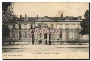 Old Postcard Bourges Staff of the Army Artillery