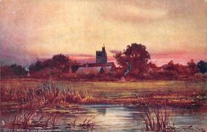 Berkshire, Bray Church, Late Evening, Signed Oilette