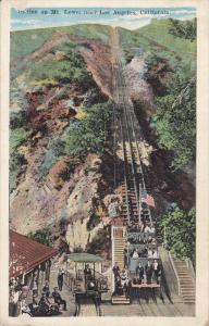 Near LOS ANGELES, California, 1900-1910´s; Incline On Mt. Lowe