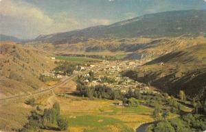 Cache Creek British Columbia Canada Birds Eye View Vintage Postcard J77213