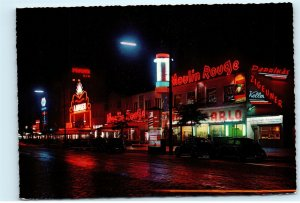 Hamburg Germany Red Light District Moulin Rouge St Pauli 4x6 Postcard E03