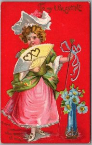 Vintage VALENTINE'S DAY Postcard From One Who Thinks of Thee / 1910 Cancel