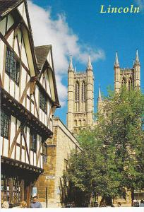 England Lincoln Tudor House and Cathedral