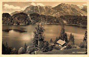 Freibergsee bei Oberstdorf im Bayr. Allgau Hotel Pension Lake Forest Postcard