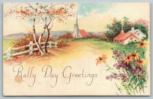 Monroe Iowa~United Presbyterian Sunday School~Rally Day Greetings~1922 Postcard