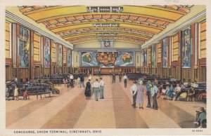 CINCINNATI , Ohio , 1930-40s Concourse Union Railroad Terminal , Interior