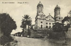 antigua, B.W.I., St. John's Cathedral (1910s) Postcard