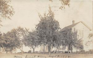 B15/ Columbia City Indiana In Real Photo RPPC Postcard 1908 Home Sweet Home