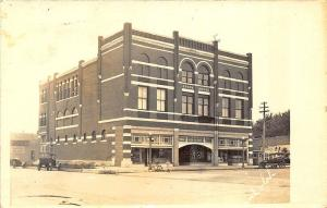 Anthony KS Opera House Movie Posters Old Cars RPPC Postcard