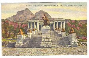 Rhodes Memorial, Groote Schuur, C.P. & Energy Statue, Cape Town, Africa, 1900...