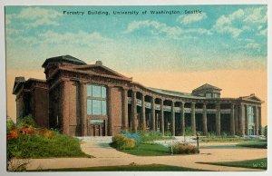 Old DB Era Postcard Forestry Building, University of Washington, Seattle, Unused
