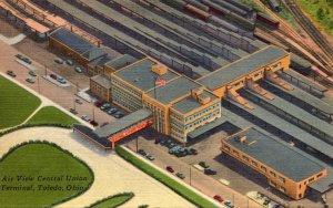 Ohio Toledo Aerial View Central Union Terminal