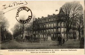 CPA Charleville - Monument des Combattants de 1870 (135496)