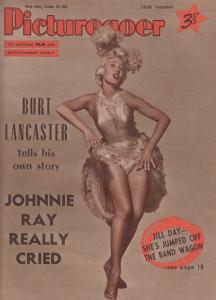 Picturegoer Burt Lancaster Johnnie Ray Jill Day 1955 Magazine