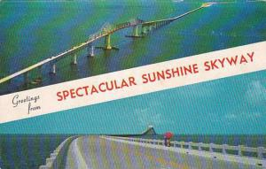 Florida Miami Greetings From Specular Sunshine Skyway