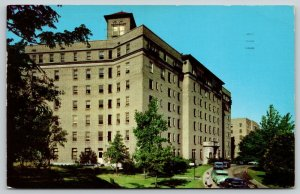St Louis MO 1940s Cars Parked by Deaconess Sisters Hospital As Dawn Approaches