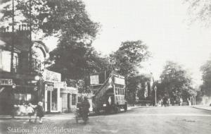 Reproduction c1924 Postcard, Station Road, Sidcup, Bexley, London, Kent 91T