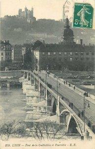 France Lyon Pont de la Guillotiere et Fourviere Postcard
