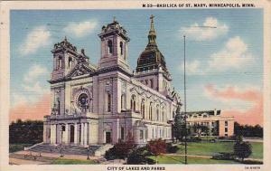 City Of Lakes And Parks Basilica Of Saint Mary Minneapolis Minnesota 1948