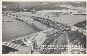 Vancouver BC New Second Narrows Bridge Information Specifications Postcard F95