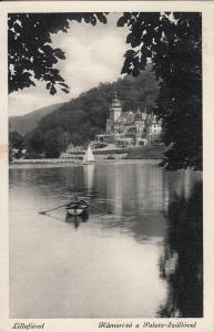 Hungary Lillafured Hamori-to Palota-Szalloval hotel Hamor lake boat