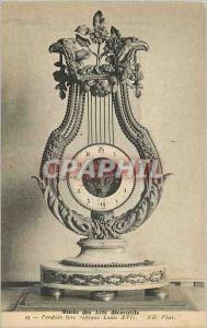 Old Postcard Musee des Arts Decoratifs Lyre Pendulum (Epoque Louis XVi)