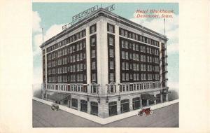 Davenport Iowa Hotel Blackhawk Street View Antique Postcard K54723