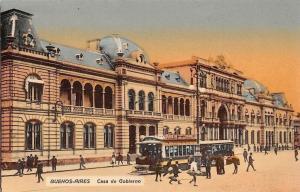 Argentina Buenos-Aires Casa de Gobierno Tramways Trams Horse Animated 1914