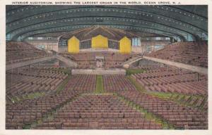 New Jersey Ocean Grove Auditorium Interior 1932