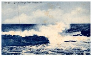 Rhode Island Newport ,   Surf at Rough Point