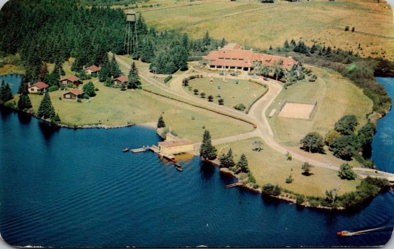 Canada Nova Scotia Yarmouth Lakeside Inn Canadian Pacific Hotel Aerial View