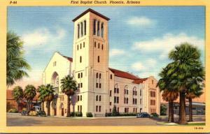 Arizona Phoenix First Baptist Church 1955 Curteich
