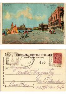 CPA VENEZIA Palazzo Ducale Piazzetta e Chiesa Salute 1899!. ITALY (507138)