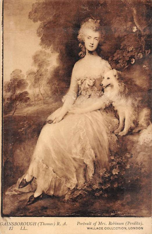 Gainsborough (Thomas) Portrait de Mrs. Robinson (Perdita) Wallace London