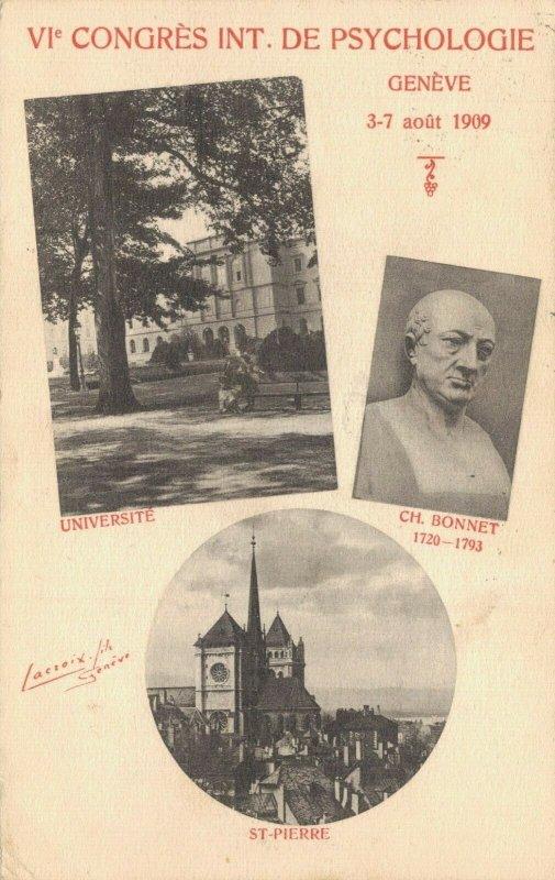 Switzerland Congres Psychologie 1909 Geneve Geneva 04.89