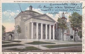 First Congregational Church, TOLEDO, Ohio, PU-1921