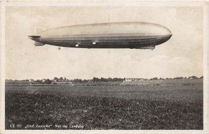 G80/ Interesting RPPC Postcard c1910 Graf Zeppelin Blimp Airship Germany 9