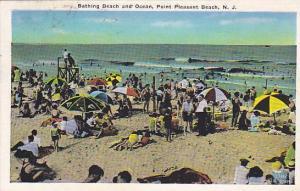 Bathing Beach and Ocean, Point Pleasant Beach, New Jersey, PU