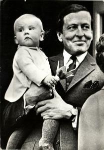 Dutch Prince Claus von Amsberg with Prince Willem-Alexander (1968)