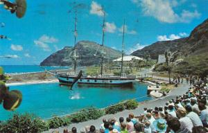 Makapuu Point Oahu Hawaii Sea Life Park Whaler's Cove vintage pc ZA440652