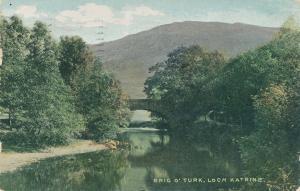 Bridge at Brig O'Turk - Loch Katrine, Scotland - pm 1906 - UDB