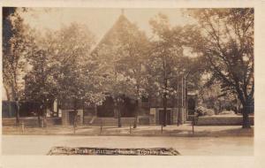 Topeka Kansas First Christian Church Real Photo Antique Postcard K102343