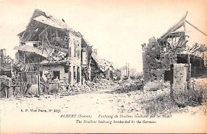 The Doullens faubourg bombartded by the Germans Albert Belgium Unused